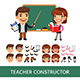 Teacher Character Constructor - GraphicRiver Item for Sale