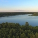 Aerial View on the Russian Lake in the Forest - VideoHive Item for Sale