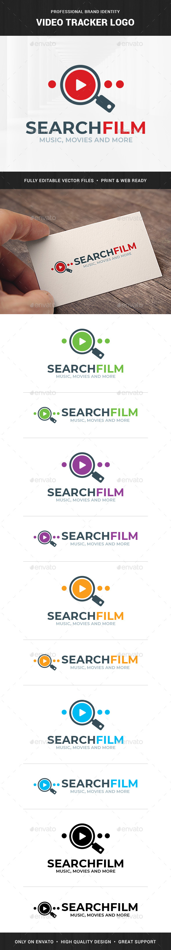 Video Tracker Logo Template - Objects Logo Templates