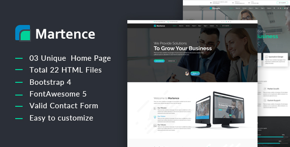 Martence || Corporate and Business Bootstrap4 Template