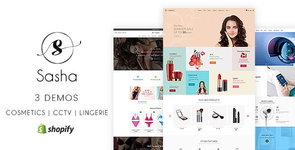 Sasha - CCTV, Bikini, Cosmetic Shopify Store