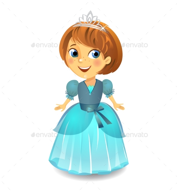 Princess in a Blue Dress - People Characters