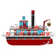 Cartoon Ferryboat