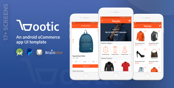 Bootic Full - An android eCommerce app with admin panel            Nulled