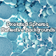 Pixelated Spheres Reflective Backgrounds - GraphicRiver Item for Sale