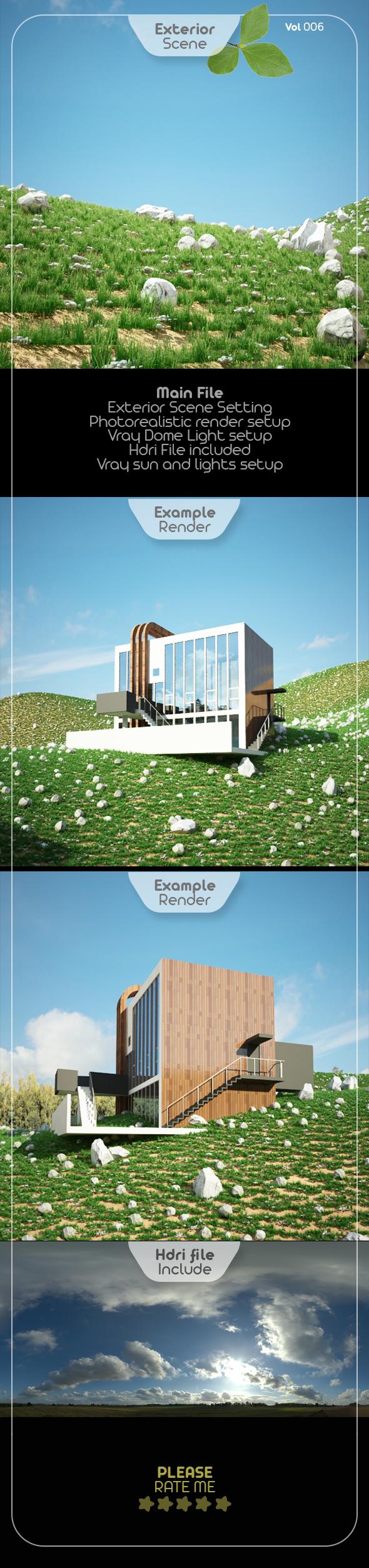 Exterior Render Scene Set 006 - 3DOcean Item for Sale