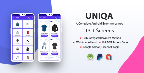 Uniqa - An android eCommerce app with admin panel            Nulled