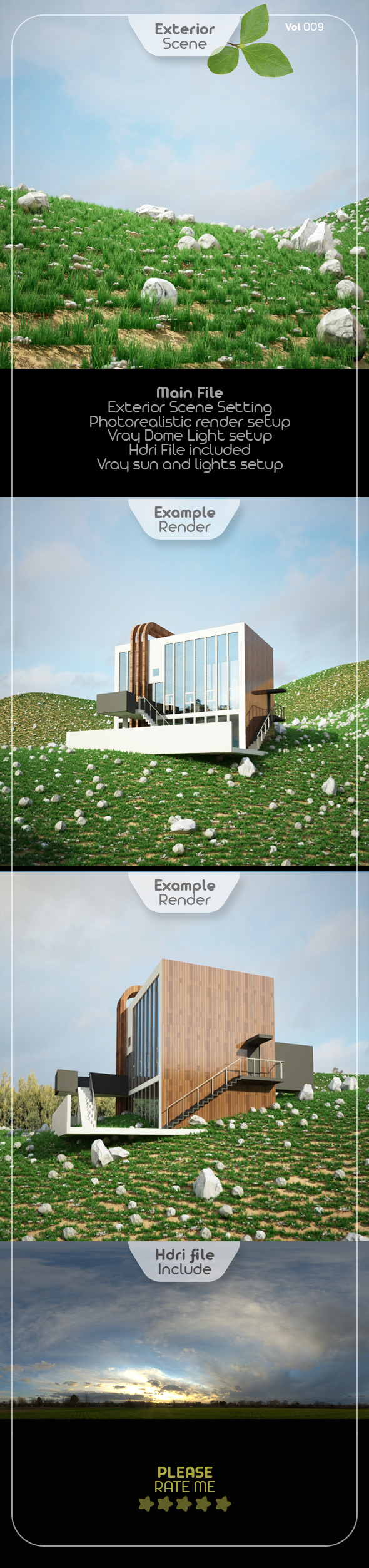 Exterior Render Scene Set 009 - 3DOcean Item for Sale