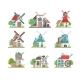 Traditional Rural Windmill Set - GraphicRiver Item for Sale