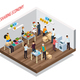 Sharing Meetup Isometric Background
