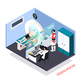 Medical Technologies Isometric Composition