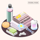 Personal Hygiene Isometric Composition