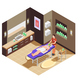 Spa Beauty Salon Isometric Composition