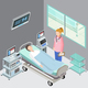Hospital Ward Isometric Composition