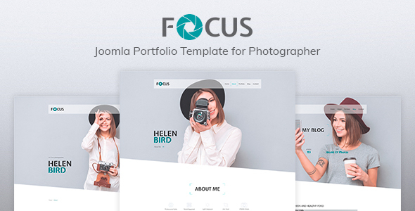 Focus — Photographer portfolio Responsive Joomla Template - Photography Creative