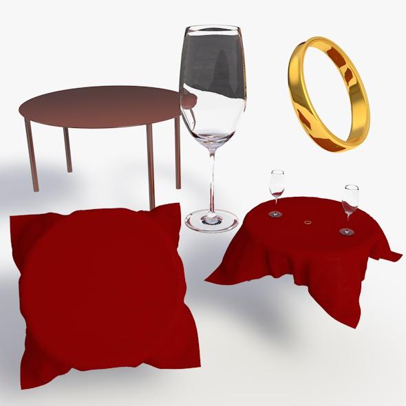 Valentines Day Set - 3DOcean Item for Sale