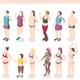 Body Positivity Movement Isometric Set