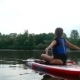 Young Girl Practice Yoga on Kayak - VideoHive Item for Sale