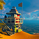 Coast Of The Sea And A Rescue Tower - VideoHive Item for Sale