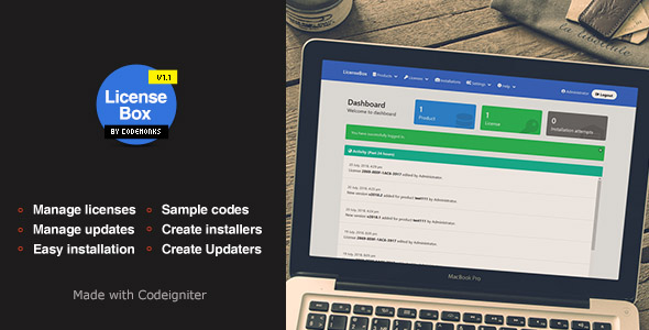 LicenseBox | PHP License and Updates Manager            Nulled