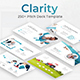 Clarity Pitch Deck Google Slide Template - GraphicRiver Item for Sale