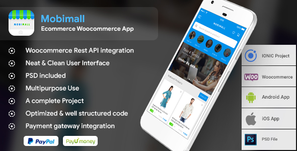 Ecommerce Android app with Woocommerce backend + Ecommerce iOS app with Woocommerce IONIC- Mobimall - CodeCanyon Item for Sale