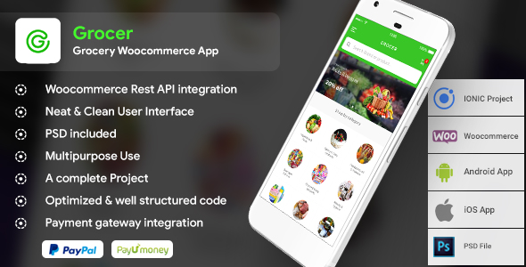 Grocery WooCommerce Android + ios Full Application  |  Grocerilla            Nulled