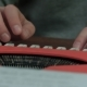 Male's Hands Typing on a Red Typing Machine - VideoHive Item for Sale