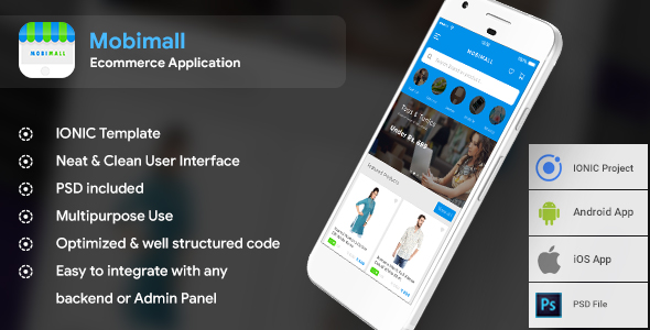 Ecommerce Android + iOS App Template (HTML + CSS files in IONIC 3) | Mobimall            Nulled