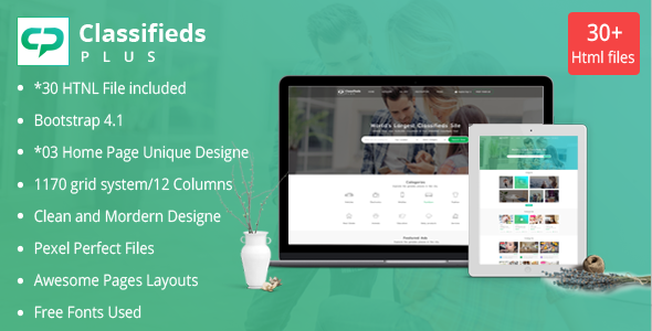 Classified Ads Plus - Classifieds Websites HTML Templates by fullstackthemes1