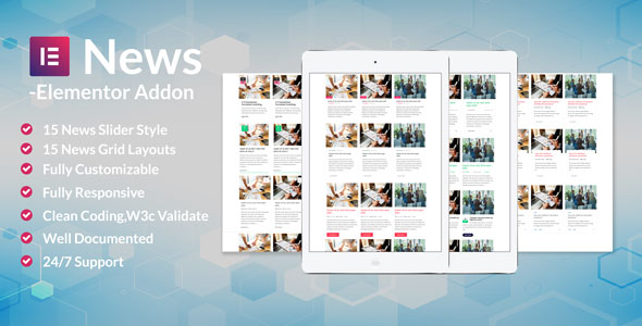 News Post Sliders News Post Grid Builder Addon - Elementor Wordpress - CodeCanyon Item for Sale
