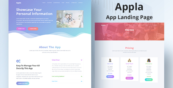 Appla - App Landing Page Template