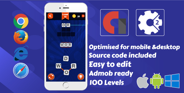 Word Connect .Construct 2 Game + Admob            Nulled