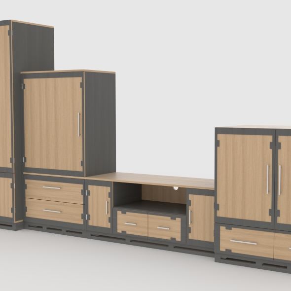 tv stand 62 - 3DOcean Item for Sale