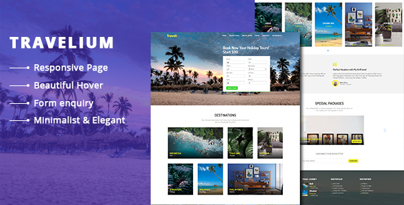 Travelium - Trip Asia Landing Page