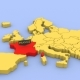 A 3D Rendered Map of Europe, Focused on France. - VideoHive Item for Sale