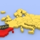 A 3D Rendered Map of Europe, Focused on Spain. - VideoHive Item for Sale