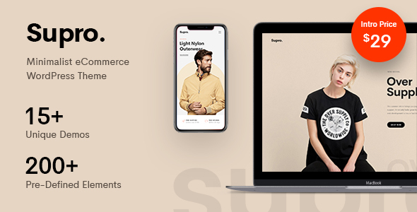 Image of Supro - Minimalist AJAX WooCommerce WordPress Theme