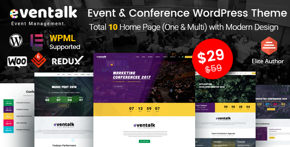 Image of EvenTalk - Event Conference WordPress Theme for Event and Conference