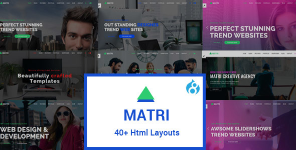 Matri | Responsive Multi-Purpose Drupal 8 Theme - Business Corporate