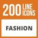200 Fashion Line Green & Black Icons