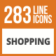 284 Shopping Line Green & Black Icons
