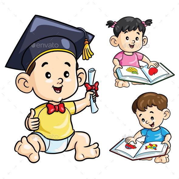 Smart Baby Cartoon - People Characters