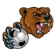 Bear Holding Soccer Ball - GraphicRiver Item for Sale