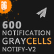 Graycells - 600 Responsive Email Notification with StampReady Online Builder Access - ThemeForest Item for Sale