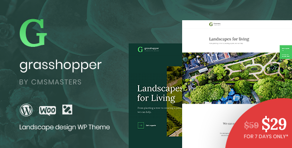 Image of Grasshopper - Landscape Design and Gardening Services WP Theme