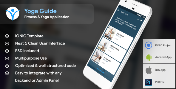 Yoga Android app + Yoga iOS app |  Templete (HTML + CSS in IONIC Framework) - CodeCanyon Item for Sale