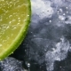 Detox or Thirst Concept. Healthy, Dietary Nutrition. Cold Lemonade, Lime Drink. Black Background - VideoHive Item for Sale