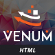 Venum - One Page Business Corporate HTML5 Template - ThemeForest Item for Sale