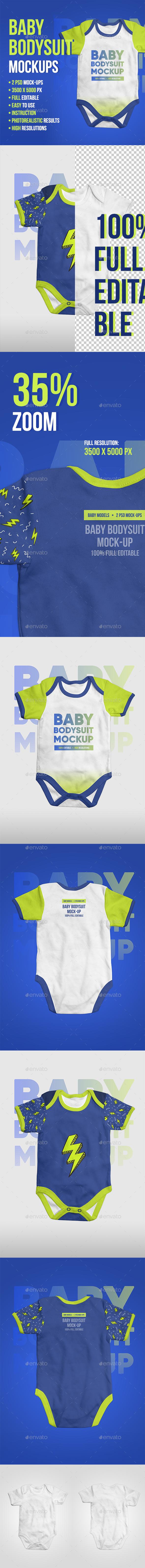 Baby Bodysuit Onesie Mock-up - Miscellaneous Apparel
